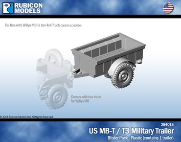 US Jeep MB-T / T3 Military Trailer 1/56 28mm
