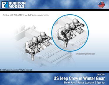 US Jeep Crew in Winter Gear 1/56 28mm