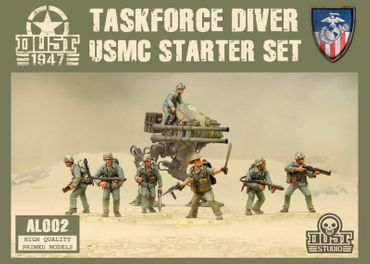 Dust 1947 Taskforce Diver USMC Starter Set Primed Edition
