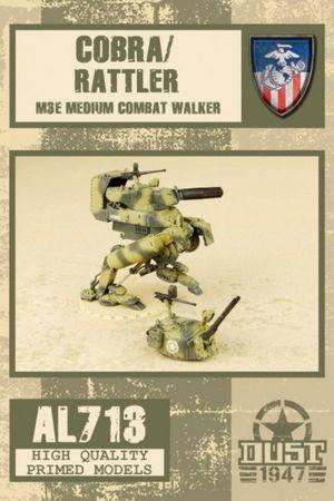 Dust 1947 Cobra / Rattler M3E Medium Combat Walker Primed Edition