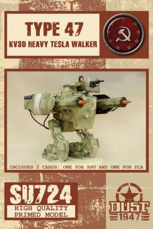 Dust 1947 Type 47 KV3D Heavy Tesla Walker Primed Edition