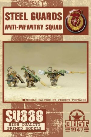Dust 1947 Steel Guards Anti Infantry Squad Primed Edition
