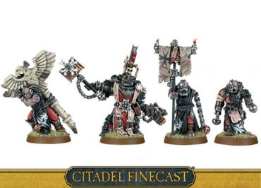 Space Marines Black Templars Chaplain Grimaldus and Retinue [GW WEB EXKLUSIV]