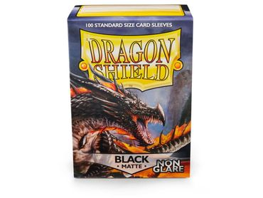 Dragon Shield Matte Non Glare Black Amina 100 protective Sleeves