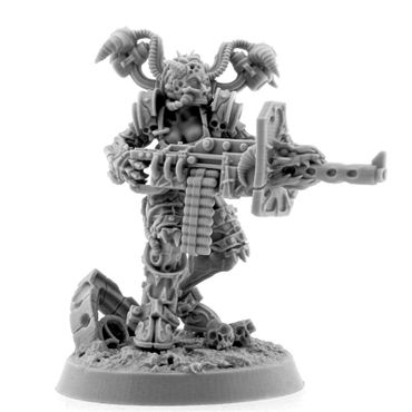 Chaos Possessed Cultist With Heavy Machine Gun