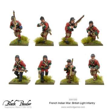 French Indian War British Light Infantry 28mm