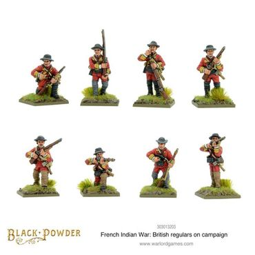 French Indian War British Regulars on Campaign 28mm