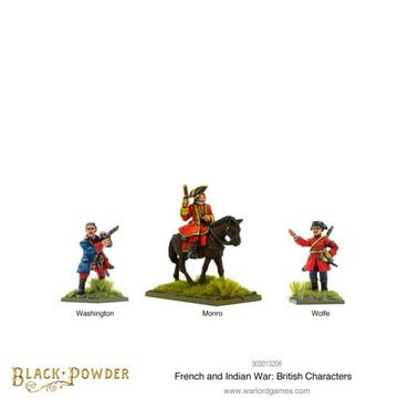 French Indian War British Characters 28mm