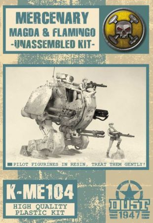 Dust 1947 Mercenary Magda & Pink Flamingo Model Kit