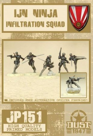 Dust 1947 IJN Ninja Infiltration Squad Primed Edition