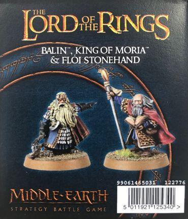 Herr der Ringe Balin König von Moria und Flói Steinhand [GW WEB EXKLUSIV]