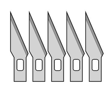 5 Ersatzklingen für Präzisions- Bastelmesser / Skalpell