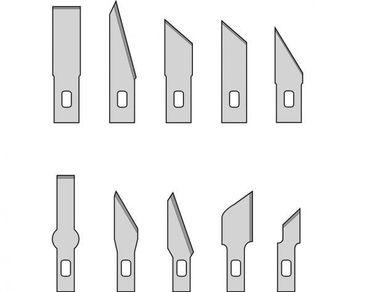Präzisions- Bastelmesser / Skalpell 10 verschiedene Ersatzklingen