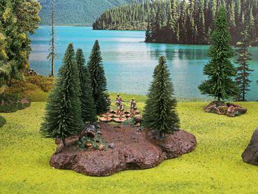 Ziterdes Waldbase mit Bäumen (10) 28mm