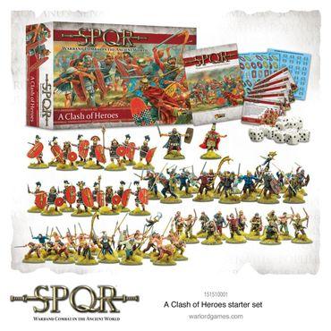 SPQR A Clash of Heroes Starter Set (Englisch) inkl. special Miniature