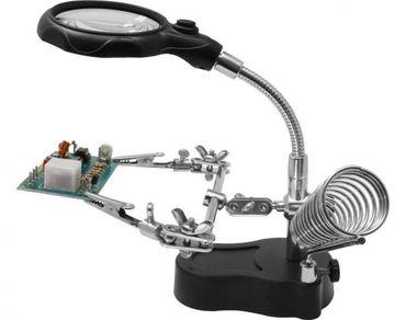 Helping Hand mit LED-Licht und Lupe (Halter mit Lupe und Licht)