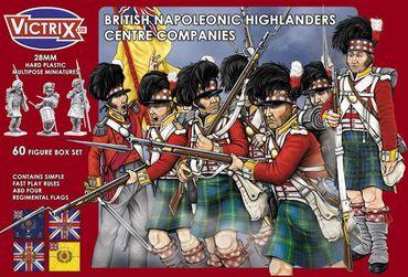 British Napoleonic Highlander Centre Companies 28mm