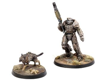 Fallout Wasteland Warfare Survivors X-01 Survivor & Dogmeat (Englisch)