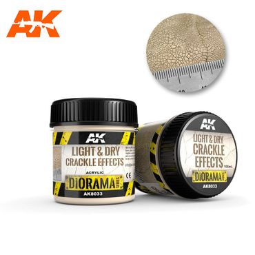 AK Interactive Light & Dry Crackle Effects 100ml