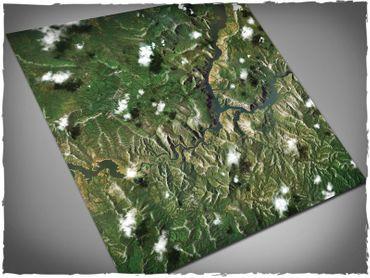Deep Cut Studio Wargames Terrain Mat Mig Alley Aerial 4x4