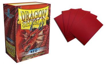 Dragon Shield Red 100 protective Sleeves