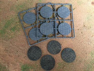 Renedra 50mm Runde Steinpflaster Bases (8)