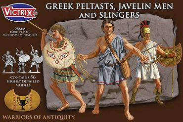 Greek Peltasts, Javelin Men and Slingers 5th to 3rd Century BCE 28mm