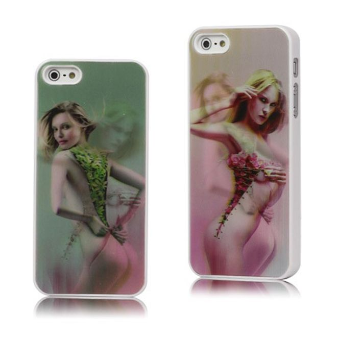 iPhone SE/5S/5 Sexy Girl 3D Effekt Hart Plastik Case