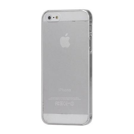 iPhone SE/5S/5 Ultradünnes, mattes Plastik Case - transparent/weiss