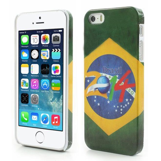 iPhone SE/5S/5 Brasilien WM 2014 Plastik Case