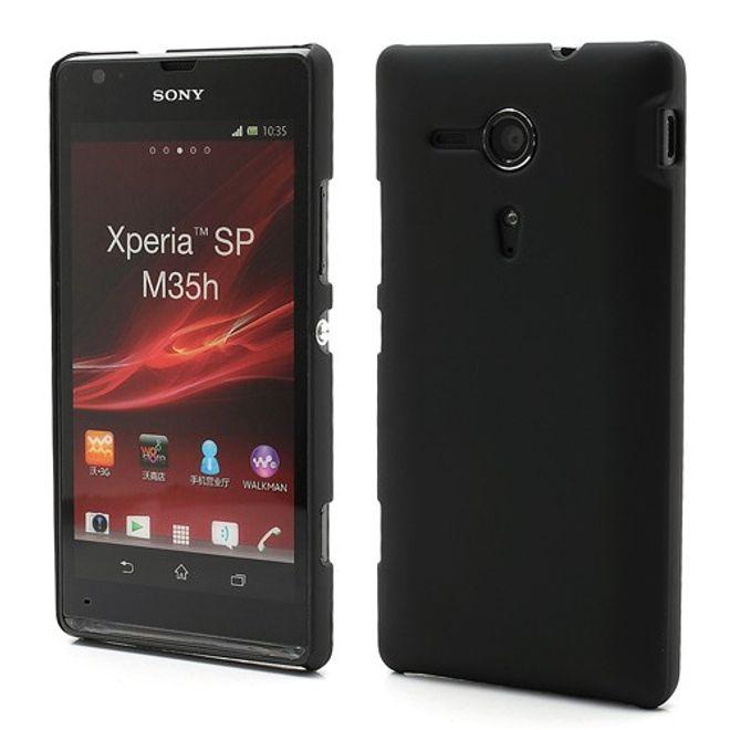 Sony Xperia SP Gummiertes Plastik Case - schwarz