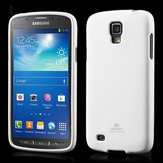 Samsung Galaxy S4 Active Glitzerndes, elastisches Plastik Case - weiss