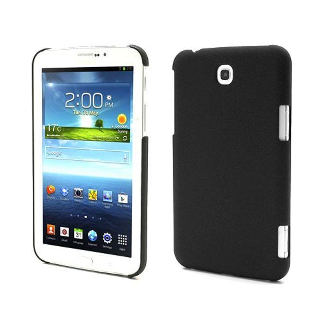 Samsung Galaxy Tab 3 7.0 Plastik Case mit sandartiger Oberfläche - schwarz