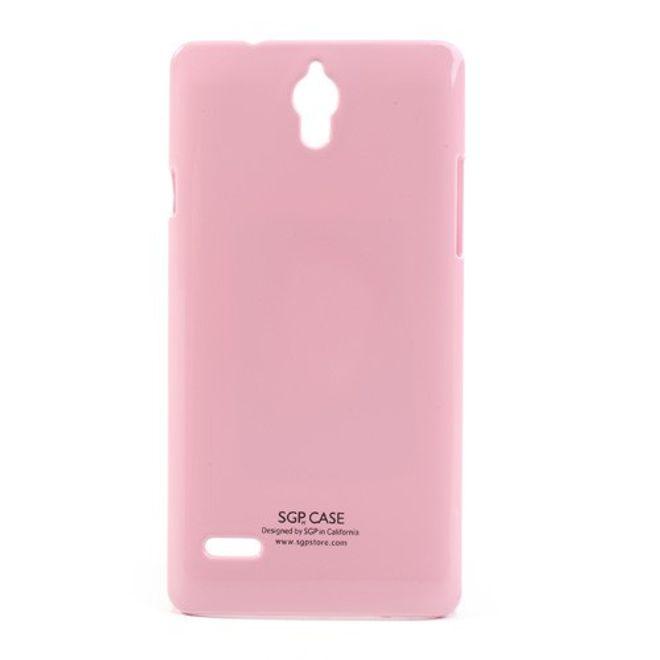 Huawei Ascend G700 Hochglanz Hart Plastik Case - pink