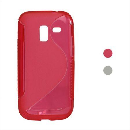 Samsung Galaxy Ace 2 Elastisches Plastik Case S-Line - rot