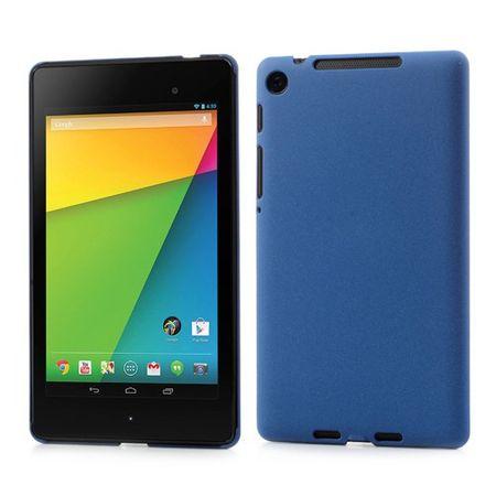 Asus Google Nexus 7 (2013 Version) Hart Plastik Case mit Sandtextur - dunkelblau