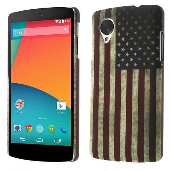 LG Google Nexus 5 Hart Plastik Case USA Amerika Flagge