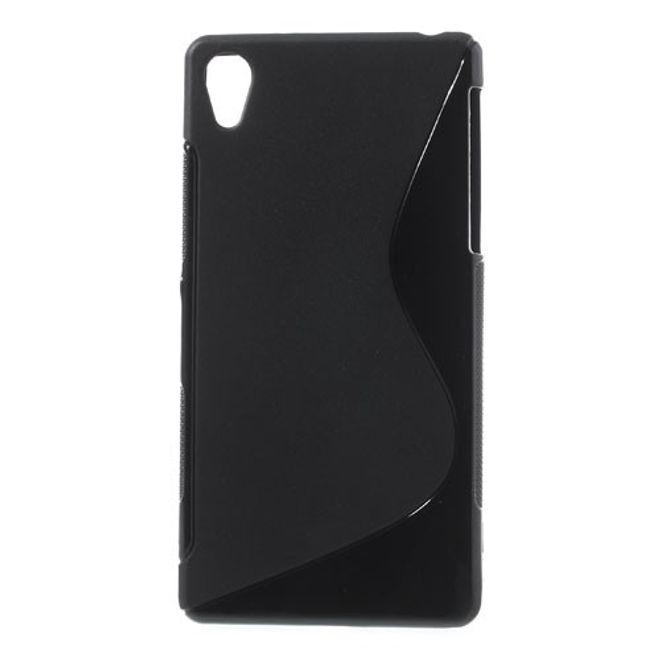 Sony Xperia Z2 Elastisches Plastik Case S-Curve - schwarz