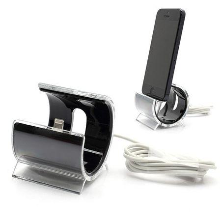 iPhone SE/5S/5 Halterung in schicker C-Form - schwarz