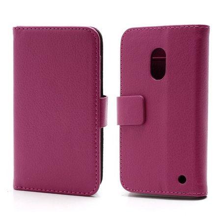 Nokia Lumia 620 Schickes Leder Case mit Standfunktion - rosa