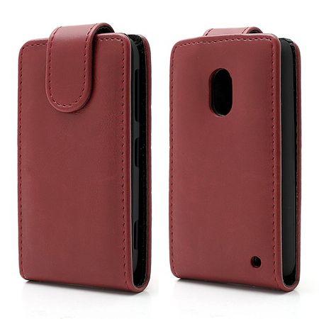 Nokia Lumia 620 Crazy Horse Leder Case magnetisch - rot