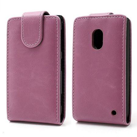Nokia Lumia 620 Crazy Horse Leder Case magnetisch - pink