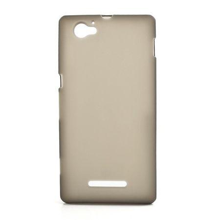 Sony Xperia M Elastisches, mattes Plastik Case - grau