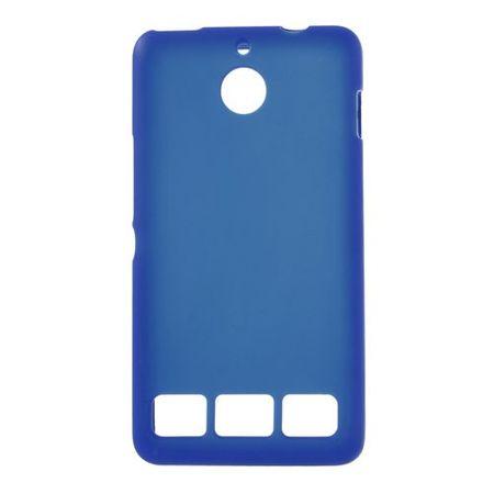 Sony Xperia E1 Elastisches, mattes Plastik Case - dunkelblau