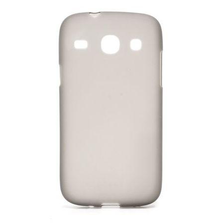 Samsung Galaxy Core Elastisches, mattes Plastik Case - grau
