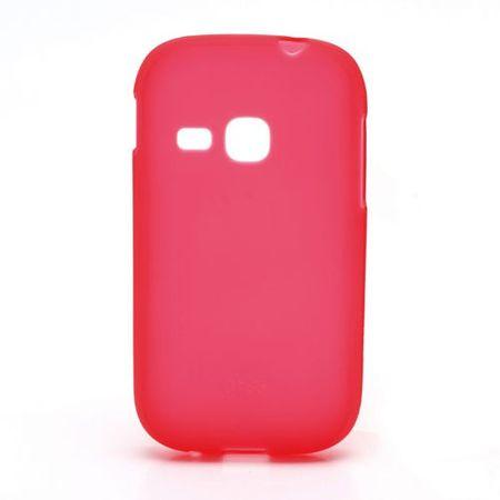 Samsung Galaxy Young Elastisches, mattes Plastik Case - rot