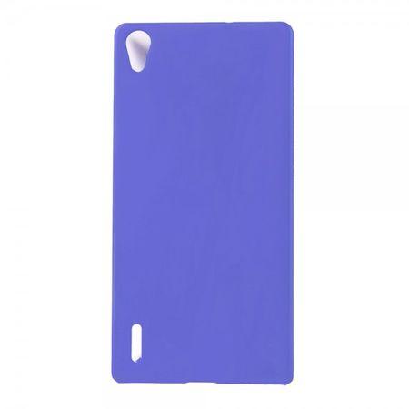 Huawei Ascend P7 Schlichtes Hart Plastik Case -  dunkelblau
