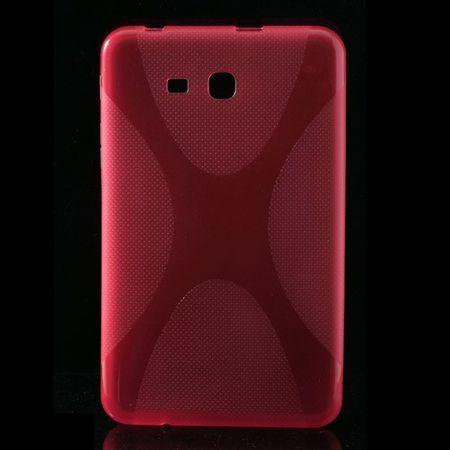 Samsung Galaxy Tab 3 7.0 Lite (T110) Elastisches Plastik Case X-Shape - rosa