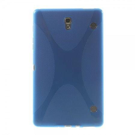 Samsung Galaxy Tab S 8.4 (T700/T701/T705) Elastisches Plastik Case X-Shape - blau