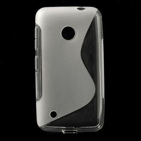 Nokia Lumia 530 Elastisches Plastik Case S-Shape - transparent
